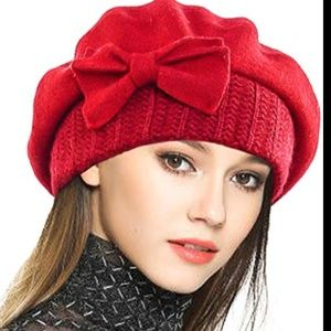 Beret Floral Dress Beanie Winter Hat